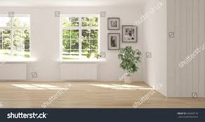 empty room pictures white empty room green landscape window stock illustration