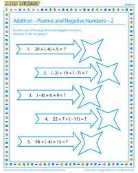 addition positive and negative numbers u2013 2 u2013 free algebra