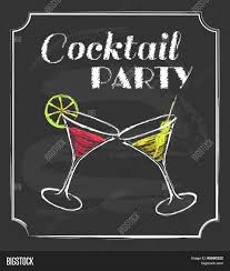 vintage cocktail vector vintage cocktail party poster vector u0026 photo bigstock