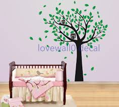 unique wind tree with cute owl leaf leaves bird room house wall unique wind tree with cute owl leaf leaves bird room house wall sticker art murals stickers