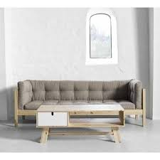 canape en bois futon canapé lit futon chez futon deco