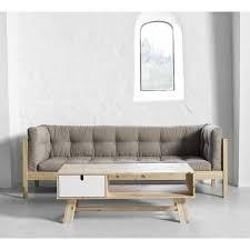 sofa canapé canapé futon boxy bois massif