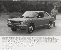1974 toyota corolla for sale milestones and memories toyota marks corolla s 50th anniversary