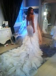 discount steven khalil couture wedding dress cathedral train
