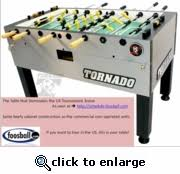 Tornado Foosball Table Tornado U0027s Top Of The Line Non Coin Operated Commercial Duty