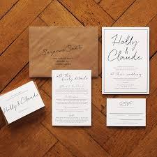 Expensive Wedding Invitations East Coast Wedding Invitation Set On Luxury Card Modern