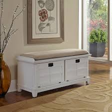 Padded Storage Bench Home Styles Arts And Crafts Upholstered Bench White