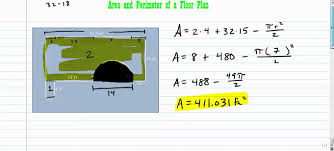 A Floor Plan by Area And Perimeter Of A Floor Plan Youtube