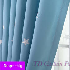 Black Out Curtain Fabric Kids Curtain Castle In Stars Drape Sheer Fabric Eyelet Pinchpleat
