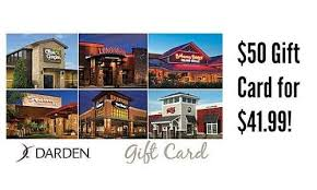 darden restaurants gift cards staples deal 50 darden restaurant gift card 41 99 southern