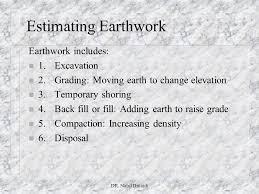 Excavation Estimating by Estimating Earthwork Dr Nabil Dmaidi Ppt