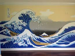 page 4 i painted this great wave mural in a bedroom wall
