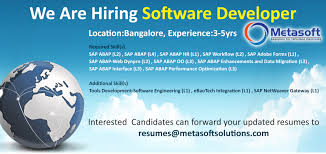 Sap Abap Workflow Resume August 2015 Metasoft Solutions