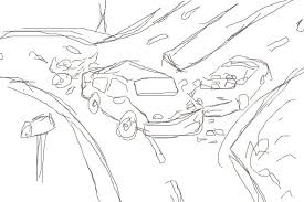 car crash a technics speedpaint drawing by innovation queeky