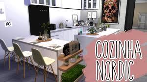 Nordic Style House The Sims 4 Reformando Apartamento 4 Cozinha Nordic Style