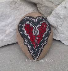 Heart Home Decor Angel Wing Mosaic Heart Mosaic Rock Garden Stone Home Decor