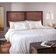 Wall Mounted Headboards For Queen Beds by Carved Rectangle Brown Wooden Wall Mounted Headboards Connected By