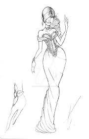 fashion sketch wedding gown by sankofarida on deviantart