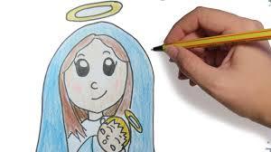 imagenes de virgen maria infantiles como dibujar a la virgen para navidad paso a paso facil dibujos de