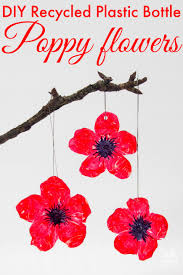 diy recycled plastic bottle poppy craft mum in the madhouse