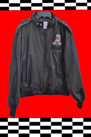 leather racing jacket racing jacket vintage cadillac craftsman 80s upstream cafe