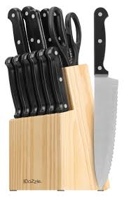 kitchen knives block set cookdazzle series 14 piece wooden knife block set review