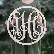 monogramed letters sale 12 36 inch circle wooden monogram letters vine