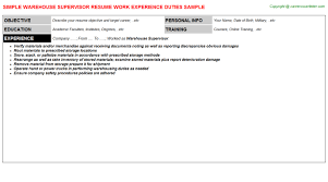 Resume Warehouse Examples by Warehousing Resume Logistics Manager Cv Template Example Job