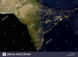 World Map India by City Lights On World Map India Stock Photo Royalty Free Image