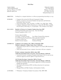 Support Technician Resume Hardware Technician Cover Letter