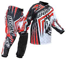 full motocross gear wulf wsx 4 cub childrens off road junior motocross jersey kids