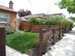 Modern Fence Modern Low Fence With Wood At Bottom Horizontal Wires And Nice