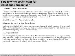 awesome collection of write cover letter warehouse job about