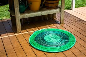 Diy Outdoor Rug How To Diy Recycled Hose Outdoor Rug Hallmark Channel