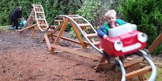 roller coaster for backyard grandpa s backyard roller coaster ks95 94 5 today s variety