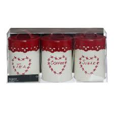 Red Kitchen Canister Red Coffee Tea Sugar Containers 1c1 Info