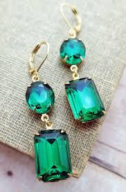 emerald green earrings emerald earrings vintage earrings emerald bridal pretty baubles