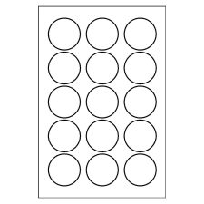 1 Inch Circle Template by Templates For Labels Avery