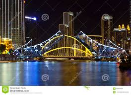 jiefang tianjin jiefang bridge editorial photo image of lighting 59420556