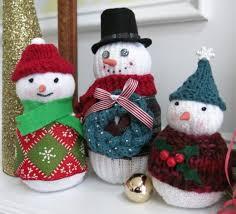 Diy Sock Snowman Diy Craft Tutorial Three Different Ways To Make Sock Snowmen