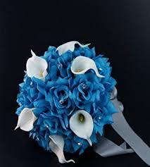 Turquoise Corsage Amazon Com 20pc Wedding Bridal Party Flower Package Malibu