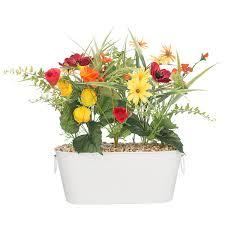 sainsbury u0027s home faux wild flowers windowsill planter sainsbury u0027s