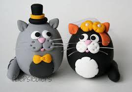 cat wedding cake topper by fliepsiebieps on deviantart