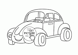 smiling cartoon car coloring page for preschoolers transportation
