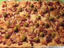 info recette cuisine fougasse bacon chèvre recette de cuisine