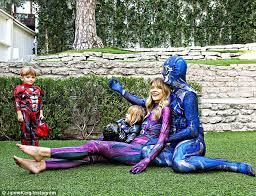 jaime king family don power ranger costumes daily mail