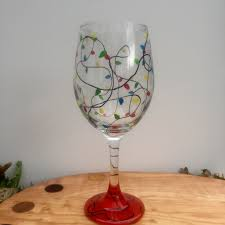 deck the halls wine glass painting the progressive palette