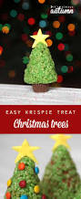 easy rice krispie krispy treat christmas trees to make with kids