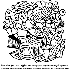 recycling search and find coloring page crayola com