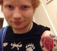 ed sheeran padlock tattoo ed sheeran celebrates the holidays with new red rose tattoo on his